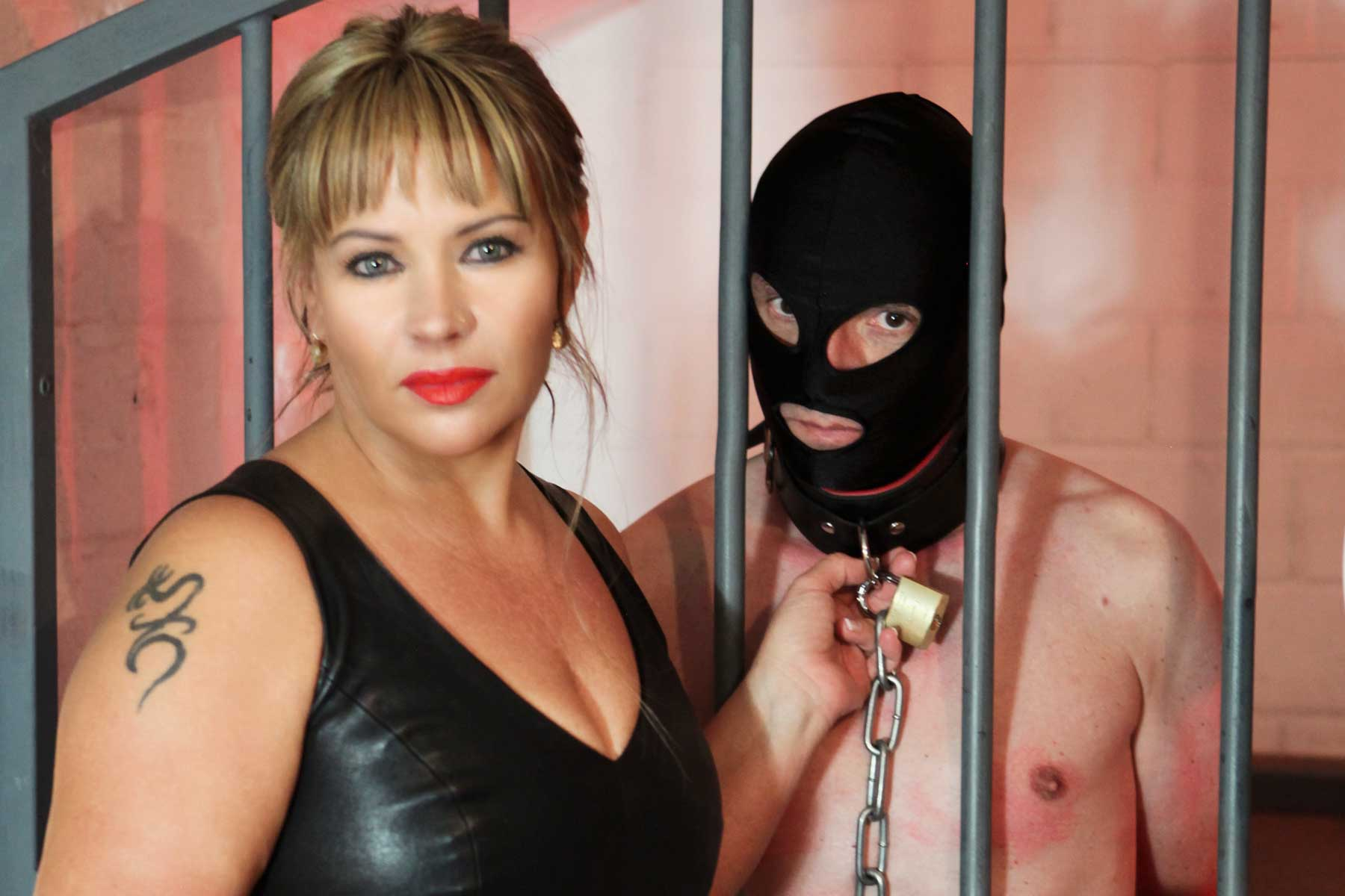 german mistress lady Mercedes is preparing a personal slave for the slave auction in the avalon residenz
